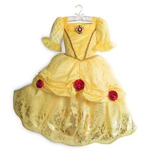 ディズニー コスプレ 子供 コスチューム 人気 ベル 美女と野獣  バラ付き ドレス プリンセス 仮装 キッズ|acomes