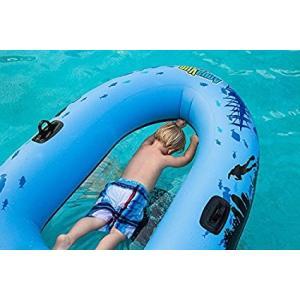 プール 家庭用 浮き輪 子供 底がクリア ボート 透明 底 フロート ボイジャー ラフト 子供 プール 海 水遊び インスタ映え ナイトプール 海水浴 グッズ|acomes