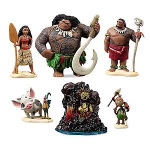 ディズニー作品モアナと伝説の海より、フィギュアセットです。 高さは最大で10cmほど, プラスチック...