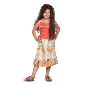 ディズニー映画「モアナと伝説の海」より、主人公のディズニープリンセス、モアナの子ども向けコスチューム...