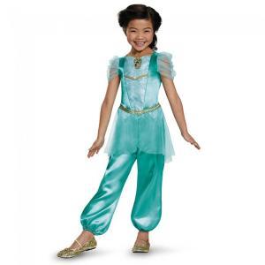 ディズニー作品アラジンより、ディズニープリンセスのジャスミン、子ども向けコスプレ/仮装用衣装、クラシ...