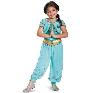 ディズニー作品アラジンより、ディズニープリンセスのジャスミン、子ども向けコスプレ/仮装用衣装、プレス...