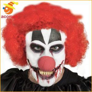 歯 キラークラウン 付け歯 不気味 メイクアップ 牙 ハロウィン イベント パーティー|acomes