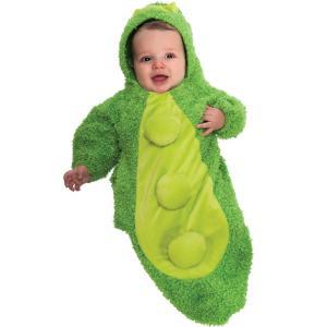 赤ちゃん コスチューム 着ぐるみ 枝豆 さやえんどう 食べ物 コスプレ 仮装 ベビー服 新生児 おくるみ|acomes
