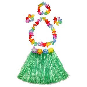 ハワイアン フラガール コスチューム コスプレ 仮装 子供 フラダンス 衣装 緑
