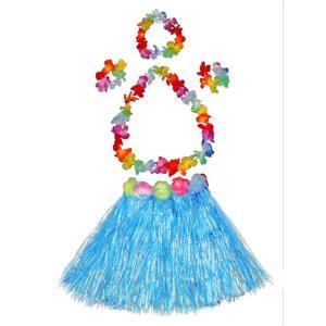 ハワイアン フラガール コスチューム コスプレ 仮装 子供 フラダンス 衣装 青