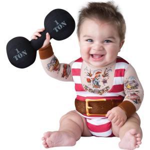 赤ちゃん おもしろコスプレ マッチョ コスチューム 子供 ベビー 派手 目立つ 仮装 ハロウィン|acomes