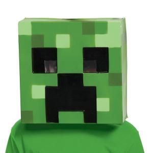 マインクラフト コスプレ クリーパー マスク 被り物 子供 キッズ 仮装  キャラクター テレビゲーム|acomes