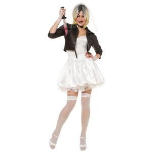 チャイルド・プレイ コスプレ チャッキー 嫁 ティファニー コスチューム 衣装 大人 レディース 仮装 ハロウィン ホラー 映画|acomes