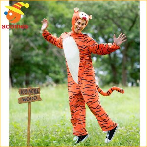 「クマのプーさん」のキャラクター、ティガーの大人用着ぐるみデラックスコスチュームです。ティガーの可愛...