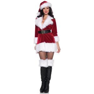 セクシー サンタクロース コスチューム 大人 レディース コスプレ 大きいサイズ スカート 衣装 クリスマス 仮装 海外|acomes