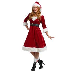 サンタクロース コスチューム 大人 レディース コスプレ 大きいサイズ ロングスカート 衣装 クリスマス 仮装 海外|acomes