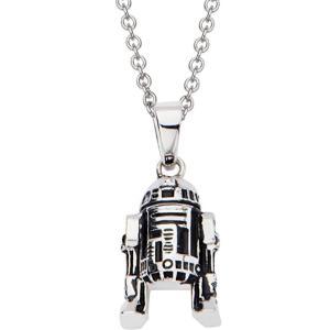 R2-D2 ネックレス スターウォーズ ジュエリー ステンレス アクセサリー シルバー acomes