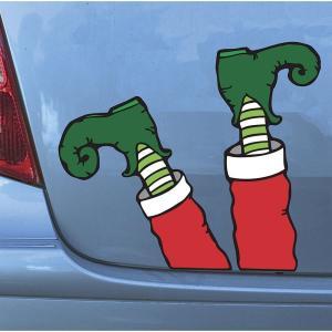 クリスマス ステッカー シール エルフ 足 車 デコレーション 飾り 装飾 インテリア|acomes