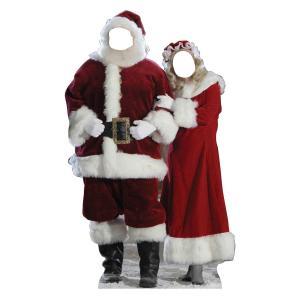 顔ハメ看板 顔出しパネル サンタクロース ペア カップル クリスマス 飾り インテリア デコレーション|acomes
