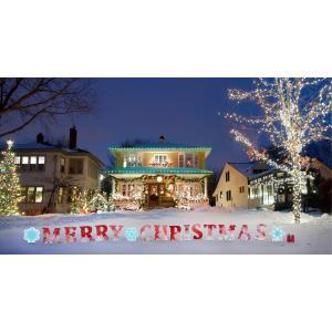 クリスマス 屋外 飾り インテリア デコレーション Merry Christmas 看板 ヤードサイン|acomes