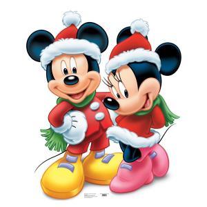 ディズニー ミッキーマウス ミニーマウス サンタクロース 等身大 パネル クリスマス 飾り インテリア デコレーション|acomes