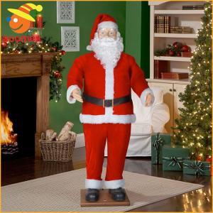 歌って 踊る サンタクロース ディスプレイ用 等身大 動く 人形 クリスマス 飾り パーティー イベント お店 店舗|acomes