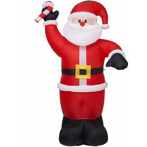 光る サンタクロース 膨らませる 飾り 野外 屋内 クリスマス デコレーション 2.4m|acomes