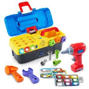 海外 おもちゃ Vtech 工具 日曜大工 ツールセット 子供 幼児 ままごと 知育玩具 英語|acomes