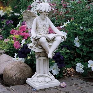 読書 妖精 アート 彫刻 ホーム インテリア エクステリア 屋外 庭 ガーデン 飾り 石像 オブジェ acomes