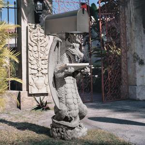 ドラゴン 郵便 ポスト アート 彫刻 ホーム インテリア エクステリア 屋外 庭 ガーデン 飾り 石像 オブジェ acomes