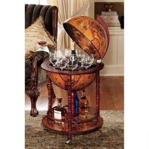 中世 イタリア 地球儀 アンティーク バーテーブル アート 彫刻 ホーム インテリア 飾り オブジェ acomes