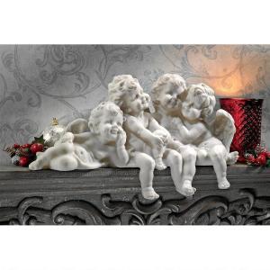 仲良し 天使 アート 彫刻 ホーム インテリア エクステリア 屋外 庭 ガーデン 飾り 石像 オブジェ acomes