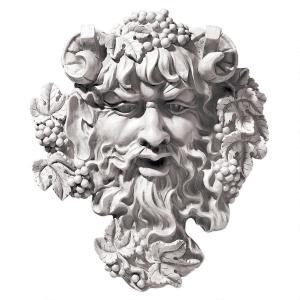 ギリシャ神話 酒の神 バッカス 壁掛け ウォール アート 彫刻 ホーム インテリア エクステリア 屋外 庭 ガーデン 飾り 石像 オブジェ acomes