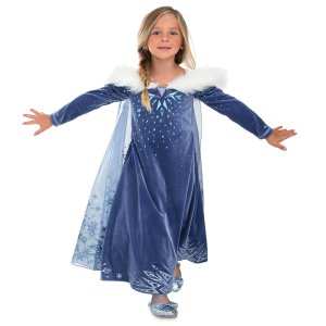 7efce004a108f ディズニー コスプレ 子供 コスチューム 人気 エルサ デラックス アナ雪 衣装 アナと雪の女王  ...