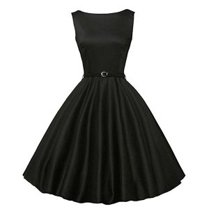 ダッパー ドレス オールディーズ 衣装 レディース ビンテージ ノースリーブ ワンピース ブラック ダッパーデイ|acomes