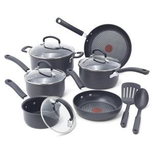 T-fal ティファール チタン ノンスティック 焦げ付かない 鍋 フライパン 6種類 セット 海外 キッチン用品 acomes