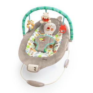 くまのプーさんの赤ちゃん用バウンサーです。  ・7つのメロディーが流れます。15分で自動オフになる仕...