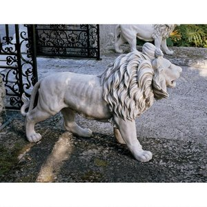 動物 ライオン 1匹 単品 玄関 ゲート アート 彫刻 ホーム インテリア エクステリア 屋外 庭 ガーデン 飾り 石像 オブジ acomes