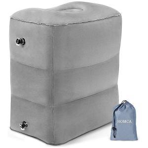 機内 膨らむ クッション 足置き 枕 旅行 便利 持ち運び 携帯 ポータブル グッズ  acomes