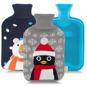 湯たんぽ かわいい 動物 ペンギン 白くま クリスマス 2L...