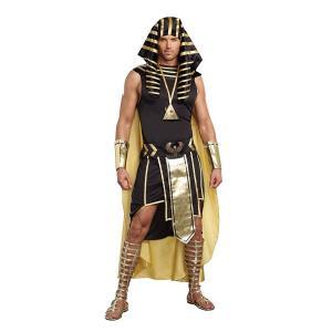 ツタンカーメン コスチューム 大人 男性 メンズ 古代 エジプト 王様 コスプレ 仮装 衣装|acomes