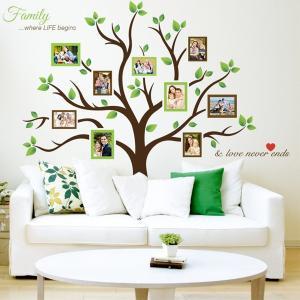 フォトフレーム ウォール ステッカー ファミリー ツリー 家族 家系図 壁 飾り 写真で飾ろう|acomes