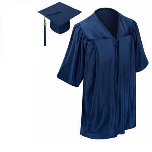 コスプレ 子供 衣装  人気 卒業式 スーツ ガウン アカデミックドレス 帽子 セット 2019 ネイビー 海外 仮装|acomes