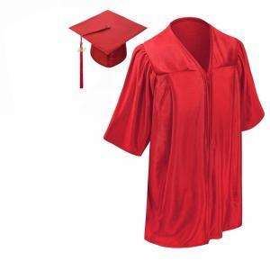 コスプレ 子供 衣装  人気 卒業式 スーツ ガウン アカデミックドレス 帽子 セット 2019 赤 海外 仮装|acomes
