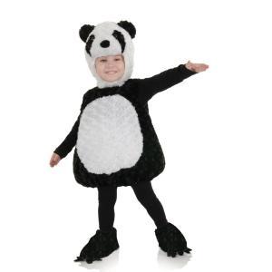 子供/幼児向けパンダのコスチュームです。  ・100%ポリエステル フェイクファー, ファイバーフィ...