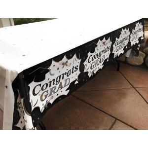卒業式 グッズ 飾り デコレーション 装飾 テーブルクロス 137 x 274cm 3点 セット|acomes