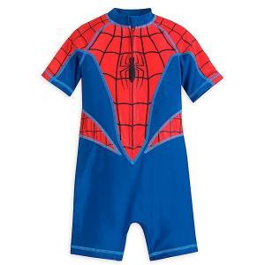 スパイダーマン スイムスーツ マーベル 男児 子供 水着 お腹が出ない めくれない|acomes