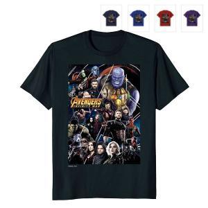 アベンジャーズ Tシャツ インフィニティ・ウォー グループ ポスター グラフィック メンズ 大人 マーベル|acomes