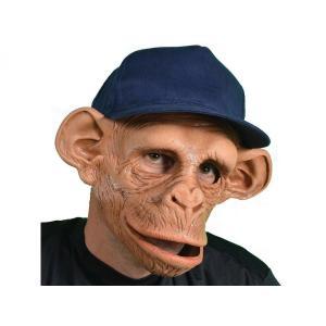 口が動く マスク 猿 サル チンパンジー 帽子つき 動物 コスプレ 変装 仮装 仮面|acomes