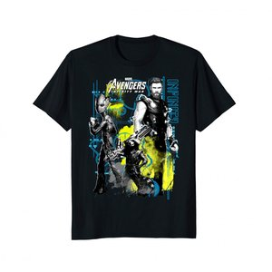 アベンジャーズ Tシャツ 黒  メンズ ソー ロケット グルート マーベル|acomes