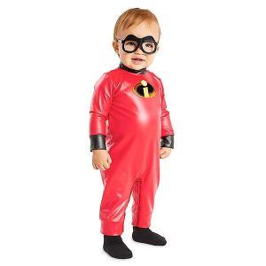 Mr.インクレディブルのジャックの赤ちゃん用コスチュームです。 簡単に着脱可能なボディースーツとメガ...