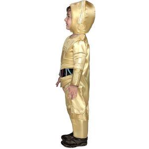 09fc0b023567c ... スターウォーズ C-3PO 子供用 キッズ コスチューム 衣装 ジャンプスーツ コスプレ 男の子 ハロウィン 仮装 ...