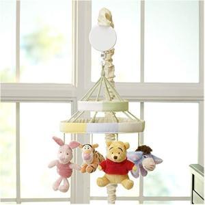 くまのプーさん ベッドメリー オルゴール 回転 新生児 子守唄 出産祝い 赤ちゃん おもちゃ ベビー|acomes