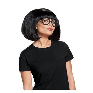 インクレディブル ファミリーよりエドナのウィッグとメガネの大人用セットです。  *素材:オレフィン、...